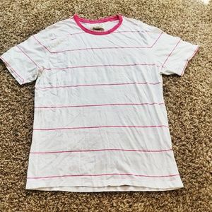 French connection  white and pink striped t-shirt